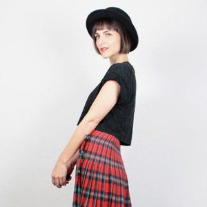 Weedend by MaxMara Scottish Plaid TartaSkirt Small